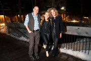 """(L-R) Eric Schlosser, Lauren Jenkins and Shauna Redford attend the """"Running Out of Road"""" music short film premiere during Sundance Film Festival 2019 at The Owl Bar on January 31, 2019 in Provo, Utah."""