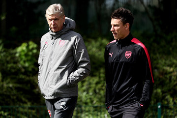 Laurent Koscielny Arsenal Training And Press Conference