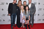 """(L-R) Ed Gass-Donnelly, Abbie Cornish, Sarah Abbott, Peyton Kennedy, Lola Flanery, and Diego Klattenhoff attend the """"Lavender"""" Premiere during the 2016 Tribeca Film Festival at Chelsea Bow Tie Cinemas on April 18, 2016 in New York City."""