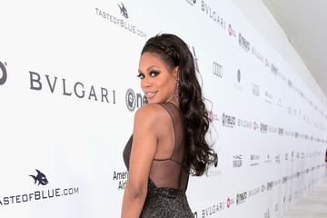 Laverne Cox 25th Annual Elton John AIDS Foundation's Oscar Viewing Party With Cocktails by Clase Azul Tequila and Chopin Vodka