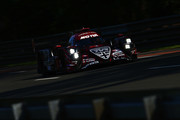 The Rebellion Racing R13 of Andre Lotterer, Neel Jani and Bruno Senna drives during practice for the Le Mans 24 Hour race at the Circuit de la Sarthe on June 13, 2018 in Le Mans, France.