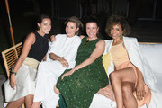(L-R) Lindsay Parton, Heidi Merrick, Garance Doré and Amber Earl attend Garance Doré, founder of Atelier Doré, celebrates Au Soleil:A Summer Soirée by Le Méridien – a global programme that brings the playful glamour of 1960s European Summers to Le Méridien hotels around the world, on July 12, 2018 in Beverly Hills, California.