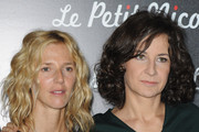 "Actresses Sandrine Kiberlain and Valerie Lemercier attends the Premiere of ""Le Petit Nicolas"" film at Le Grand Rex on September 20, 2009 in Paris, France."