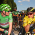 Andre Greipel Tony Martin Photos - Yellow jersey wearer Tony Martin of Germany and Etixx-Quick Step and green jersey wearer Andre Greipel of Germany and Lotto-Soudal in discussion prior to stage six of the 2015 Tour de France, a 191.5km stage between Abbeville and Le Havre, on July 9, 2015 in Abbeville, France. - Le Tour de France 2015 - Stage Six