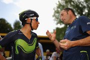 Nairo Quintana of Columbia and Team Movistar during stage eight of the 2017 Le Tour de France, a 187.5km road stage from Dole to Station Des Rousses on July 8, 2017 in Dole, France.