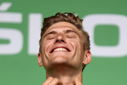 Marcel Kittel of Germany and Quick-Step Floors retained his green points jersey after his fifth win on stage eleven of Le Tour de France 2017, a 203.5km road stage from Eymet to Pau on July 12, 2017 in Pau, France.