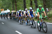 Marcel Kittel of Germany riding for Quick-Step Floors rides in the green points jersey in the peloton during stage 11 of the 2017 Le Tour de France, a 203.5km stage from Eymet to Pau on July 12, 2017 in Eymet, France.