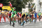 Marcel Kittel of Germany and Quick-Step Floors celebrates his fifth win on stage eleven of Le Tour de France 2017, a 203.5km road stage from Eymet to Pau on July 12, 2017 in Pau, France.