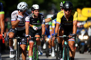Mark Cavendish of Great Britain and Team Dimension Data crosses the finish line after being involved in a crash in the final straight during stage four of Le Tour de France 2017 on July 4, 2017 in Vittel, France.
