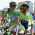 Matteo Tosatto Photos - (L-R) Peter Sagan of Slovakia and Cannondale and Matteo Tosatto of Italy and Tinkoff-Saxo prepare for the start of stage four of the 2014 Le Tour de France from Le Touquet-Paris-Plage to Lille on July 8, 2014 in Le Touquet-Paris-Plage, France. - Le Tour de France: Stage 4
