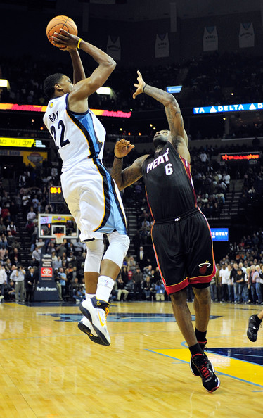 LeBron James Rudy Gay #22 of the Memphis Grizzlies makes the game-winning ...