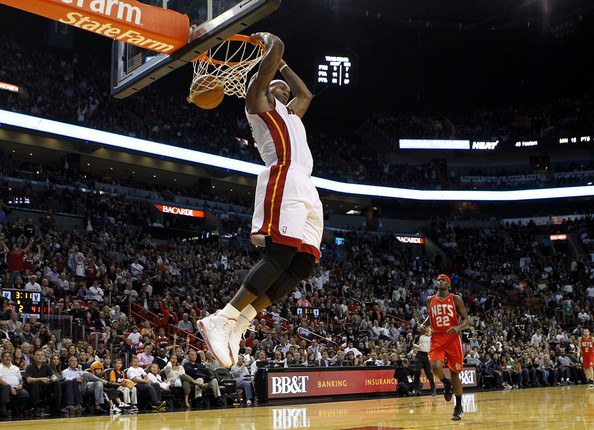 lebron james heat 6. Forward LeBron James #6 of the
