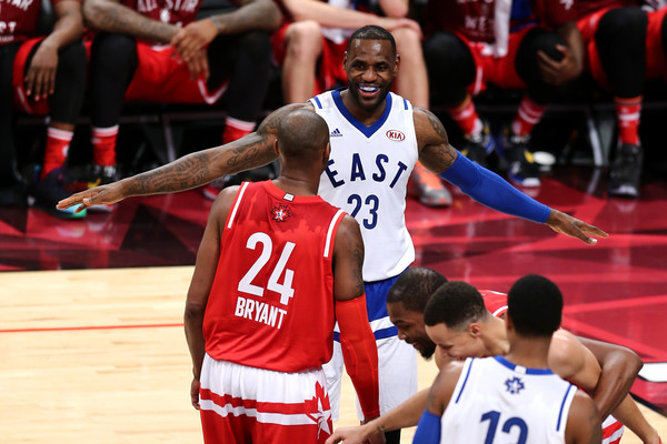 check out 7bcff 484ad LeBron James and Kobe Bryant Photos Photos - NBA All-Star ...
