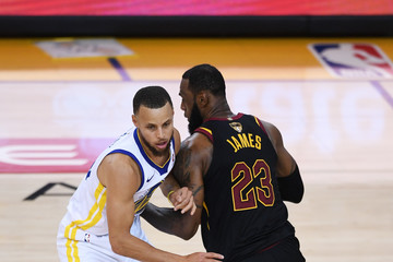 LeBron James Stephen Curry 2018 NBA Finals - Game One