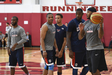LeBron James Stephen Curry USA Basketball Men's National Team Training Camp