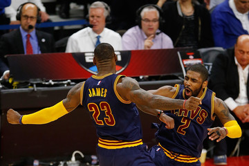 LeBron James Cleveland Cavaliers v Detroit Pistons - Game Three
