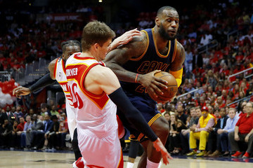 LeBron James Cleveland Cavaliers v Atlanta Hawks - Game Two