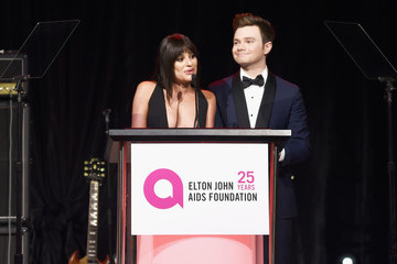Lea Michele Chris Colfer 26th Annual Elton John AIDS Foundation Academy Awards Viewing Party sponsored by Bulgari, celebrating EJAF and the 90th Academy Awards  - Inside