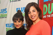 (EXCLUSIVE COVERAGE/SPECIAL RATES APPLY) (L-R)   Lea Michele and Sharon Dastur, z100 program director visit the Elvis Duran z100 Morning Show at Z100 Studio on December 3, 2013 in New York City.