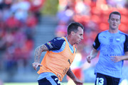 Luke Wilkshire of Sydney FC during warmups during the round 16 A-League match between Adelaide United and Sydney FC at Coopers Stadium on January 14, 2018 in Adelaide, Australia.