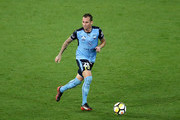 Luke Wilkshire of Sydney FC controls the ball during the round 18 A-League match between Melbourne Victory and Sydney FC at AAMI Park on January 26, 2018 in Melbourne, Australia.