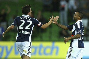 Harry Kewell Archie Thompson A-League Rd 19 - Victory v Central Coast