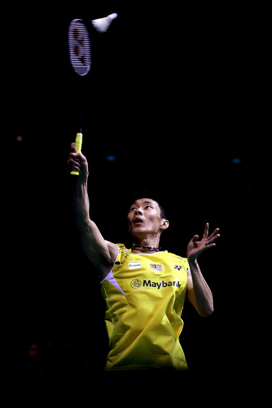 Singapore Open [badminton,yellow,player,performance,sports,lee chong wei,men,action,singapore indoor stadium,malaysia,singapore open,final]