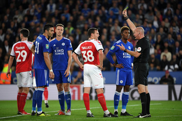 Lee Mason Leicester City vs. Fleetwood Town - Carabao Cup Second Round