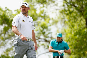 Lee Westwood Sergio Garcia World Golf Championships-Dell Match Play - Round One