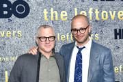 """L-R) Co-creator/executive producers Tom Perrotta, and co-creator/executive producer Damon Lindelof attend """"The Leftovers"""" FYC New York Screening at Metrograph on June 1, 2017 in New York City."""