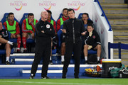 Joey Barton, Manager of Fleetwood Town reacts during the Carabao Cup Second Round match between Leicester City and Fleetwood Town at The King Power Stadium on August 28, 2018 in Leicester, England.