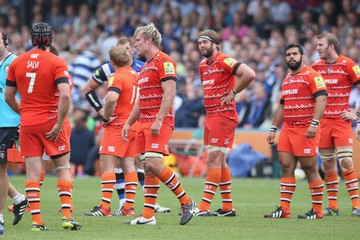 Leicester Tigers Dejection Bath Rugby v Leicester Tigers - Aviva Premiership