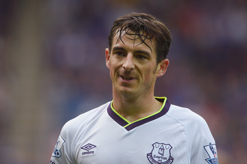 Leighton Baines Leicester City v Everton