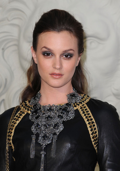 Chanel - Outside Arrivals - PFW Haute Couture F/W 2011 [hair,face,eyebrow,hairstyle,lip,beauty,fashion,fashion model,eye,haute couture,haute couture f,leighton meester,chanel - outside,pfw,part,grand palais,paris,chanel,show,paris haute couture fashion week fall]