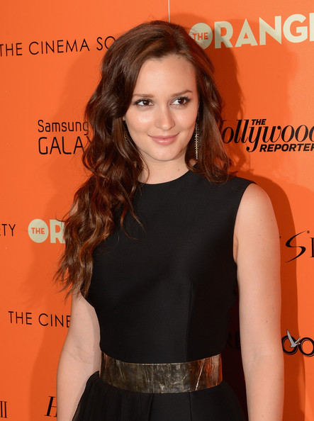 "Leighton Meester - The Cinema Society with The Hollywood Reporter & Samsung Galaxy S III host a screening of ""The Oranges"" - Arrivals"