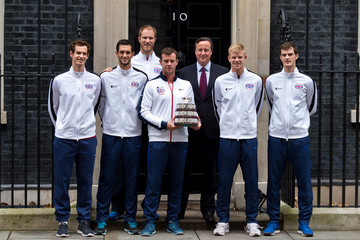 Leon Smith Kyle Edmund Davis Cup Winners Arrive For Downing Street Reception