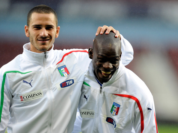 Leonardo Bonucci Leonardo Bonucci and Mario Balotelli of Italy in action during the international friendly match between Italy and Ivory Coast at The Boleyn Ground on August 10, 2010 in London, England.