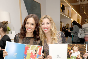 Leonor Varela Serena & Lily and Sara Blakely Celebrate the Launch of The Belly Art Project Benefiting Every Mother Counts