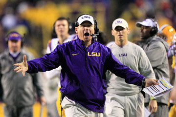 Les Miles Texas A&M v LSU