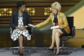 Lesley Stahl Women In World Summit Held In New York