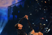 """Benjamin Piwko and Isabel Edvardsson perform on stage during the 1st show of the 12th season of the television competition """"Let's Dance"""" on March 22, 2019 in Cologne, Germany."""