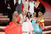 (L-R, 1st row) Christian Polanc, Massimo Sinato, Erich Klann, Willi Gabalier and  Alexander Klaws.(L-R, front row) Carmen Geiss, Larissa Marolt, Lilly Becker, Tanja Szewczenko and Isabel Edvardsson pose for a picture during the 5th show of 'Let's Dance' on RTL at Coloneum on May 2, 2014 in Cologne, Germany.