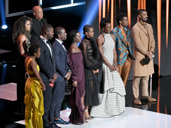 50th NAACP Image Awards - Show [black panther,event,fashion,performance,dress,ceremony,fashion design,suit,cast,california,hollywood,dolby theatre,naacp image awards,show]