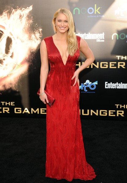 "Leven Rambin Actress Leven Rambin arrives at the premiere of Lionsgate's ""The Hunger Games"" at Nokia Theatre L.A. Live on March 12, 2012 in Los Angeles, California."