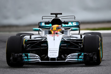 Lewis Hamilton F1 Winter Testing In Barcelona - Day Two