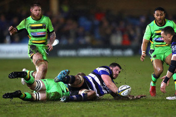Lewis Ludlam Bath Vs. Northampton Saints - Anglo-Welsh Cup Semi Final