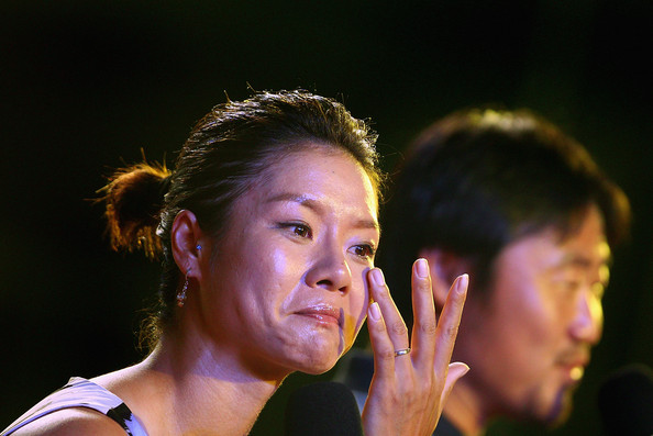 Li Na and Jiang Shan - WTA Celebrates Li Na's Victory In French Open