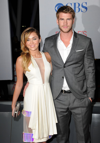 Liam Hemsworth Singer Miley Cyrus and actor Liam Hemsworth arrive at the 2012 People's Choice Awards held at Nokia Theatre L.A. Live on January 11, 2012 in Los Angeles, California.