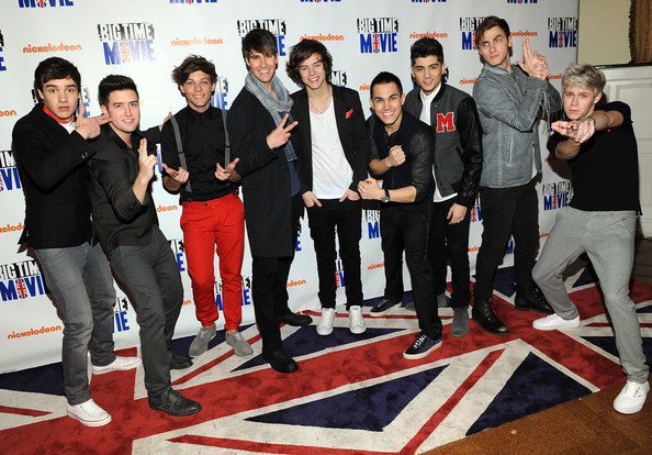 "Liam Payne Big Time Rush and British pop group One Direction attend Nickelodeon Hosts Orange Carpet Premiere For Original TV Movie ""Big Time Movie"" Starring Big Time Rush at 583 Park Avenue on March 8, 2012 in New York City."