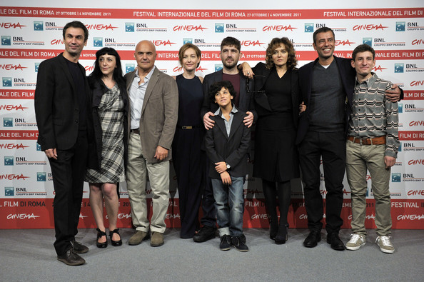 """La Kryptonite Nella Borsa"" Photocall - Rome Film Fest [la kryptonite nella borsa,event,carpet,premiere,team,tourism,red carpet,fabrizio gifuni,valeria golino,ivan cotroneo,libero de rienzo,photocall,l-r,front,rome,international rome film festival]"